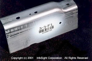 Barcode on Automotive Bracket